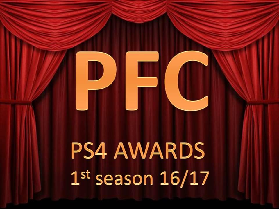 PFC AWARDS PS4 1st SEASON